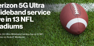 Verizon 5G now available in select NFL stadiums