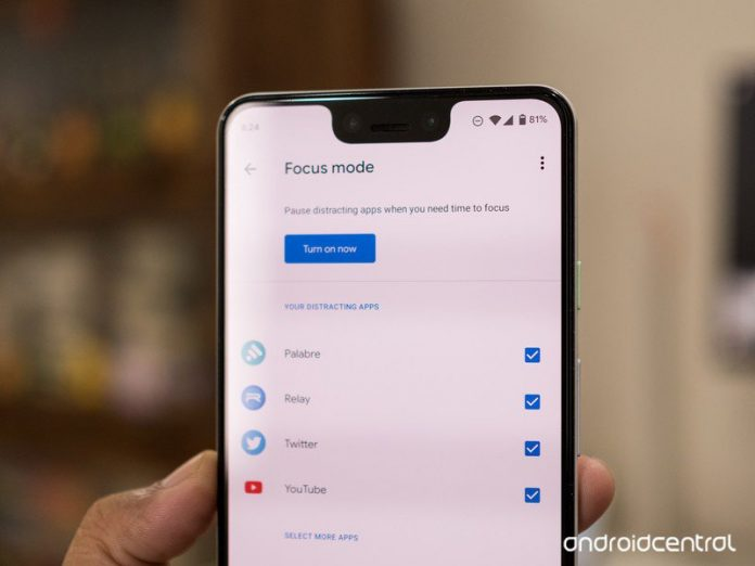 How to use Digital Wellbeing Focus Mode on Android 10
