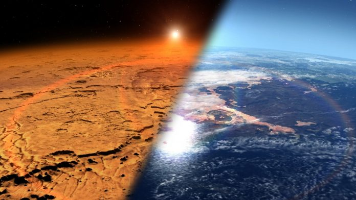 Mars was once a lush, ocean-covered planet with a thick atmosphere like Earth's