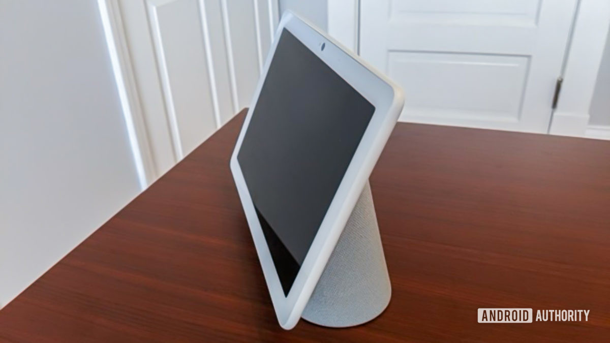 Google Home Hub Max from the side