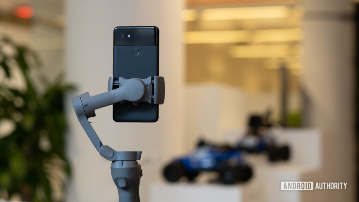 DJI Osmo Mobile 3 on table with Pixel closer