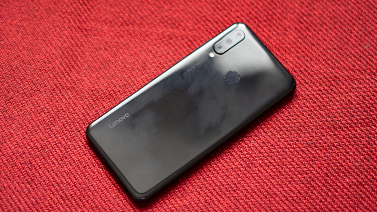 Lenovo K10 Note back of the phone with camera module and fingerprint reader