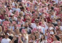 University of Alabama is tracking students to see if they leave football games