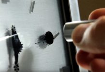 The hands on this clock are made from an experimental magnetic rocket fuel