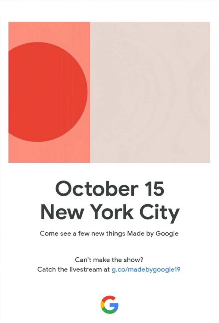 Google will launch the Pixel 4 and other hardware on October 15 in New York