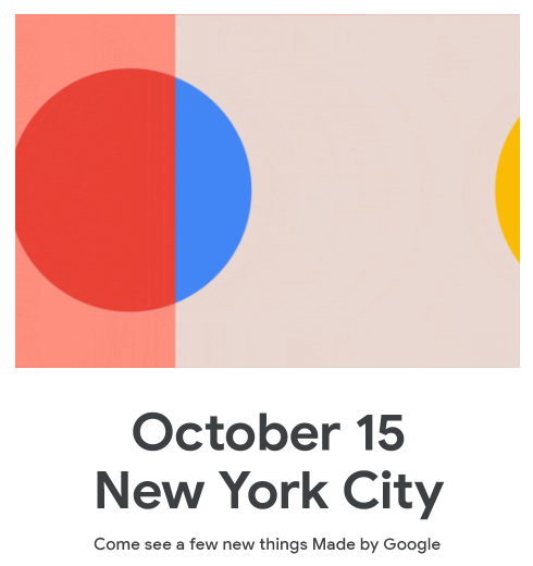 Google schedules hardware event for October 15