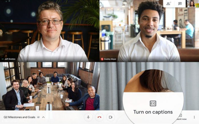 Google Hangouts Meet for Android now supports live captions