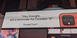Google confirms coral color for the Pixel 4 in Times Square ad