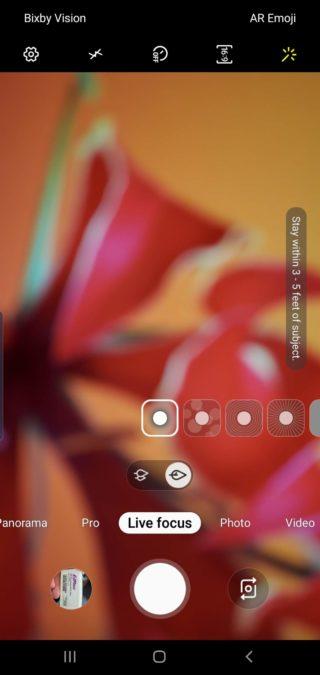 Samsung Galaxy Note 10 Plus camera review camera app live focus
