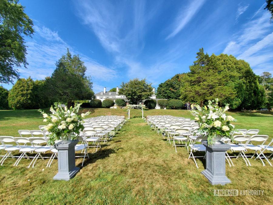 Samsung Galaxy Note 10 Plus camera review landscape outdoor wedding