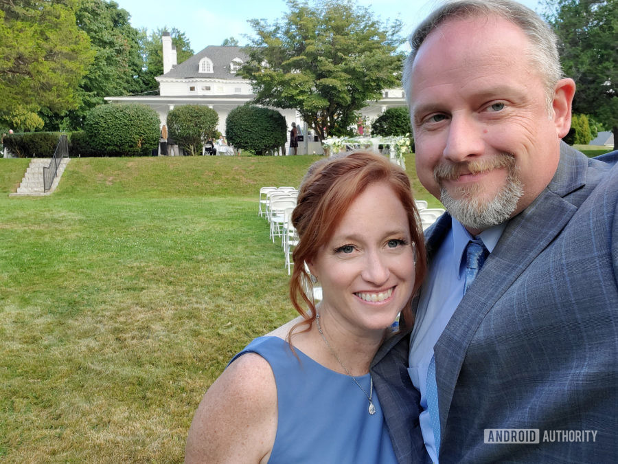 Samsung Galaxy Note 10 Plus camera review wedding selfie
