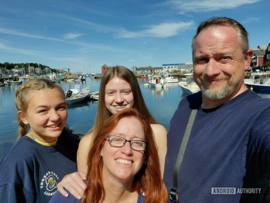 Samsung Galaxy Note 10 Plus camera review selfie in harbor