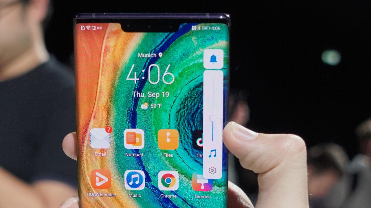 Huawei Mate 30 Pro volume control