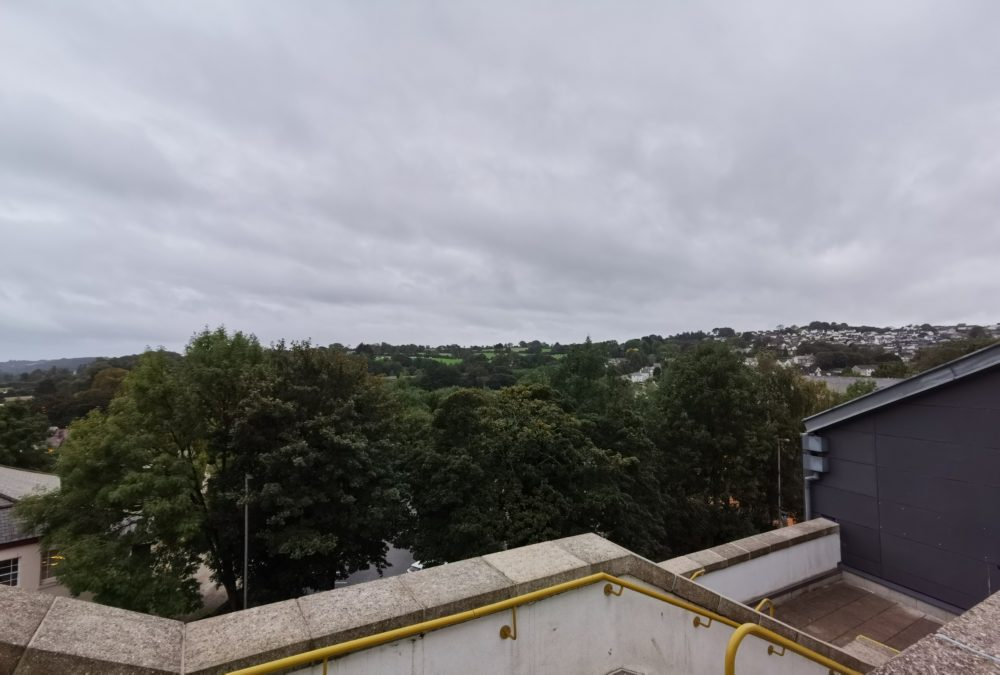 Huawei Mate 30 Pro Camera test HDR shot overlooking dark trees