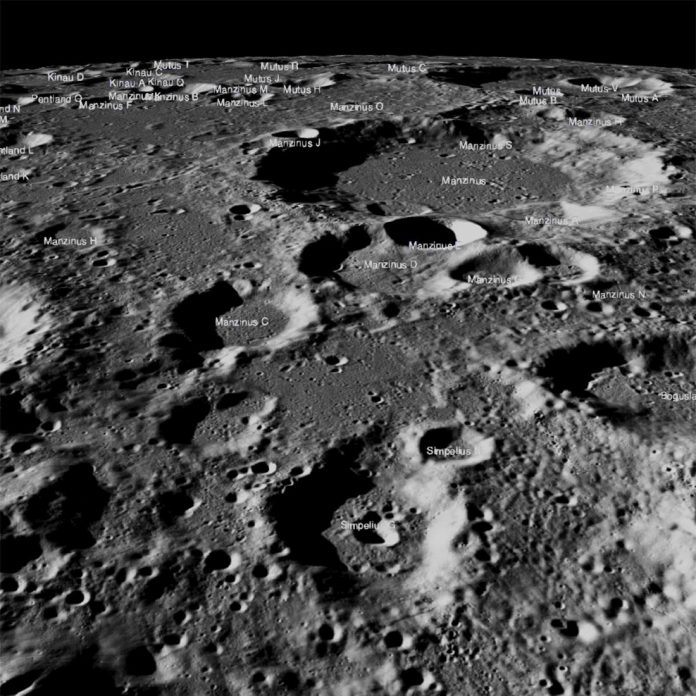 Can you locate India's crashed lunar lander in this image?