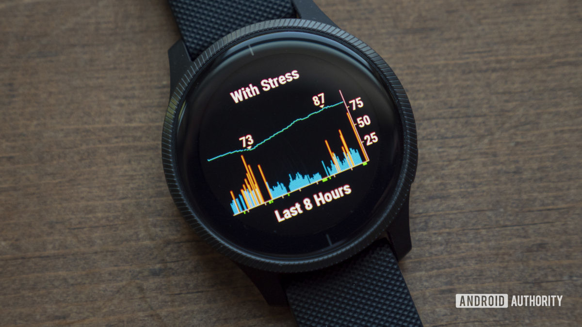 garmin venu review stress sleep