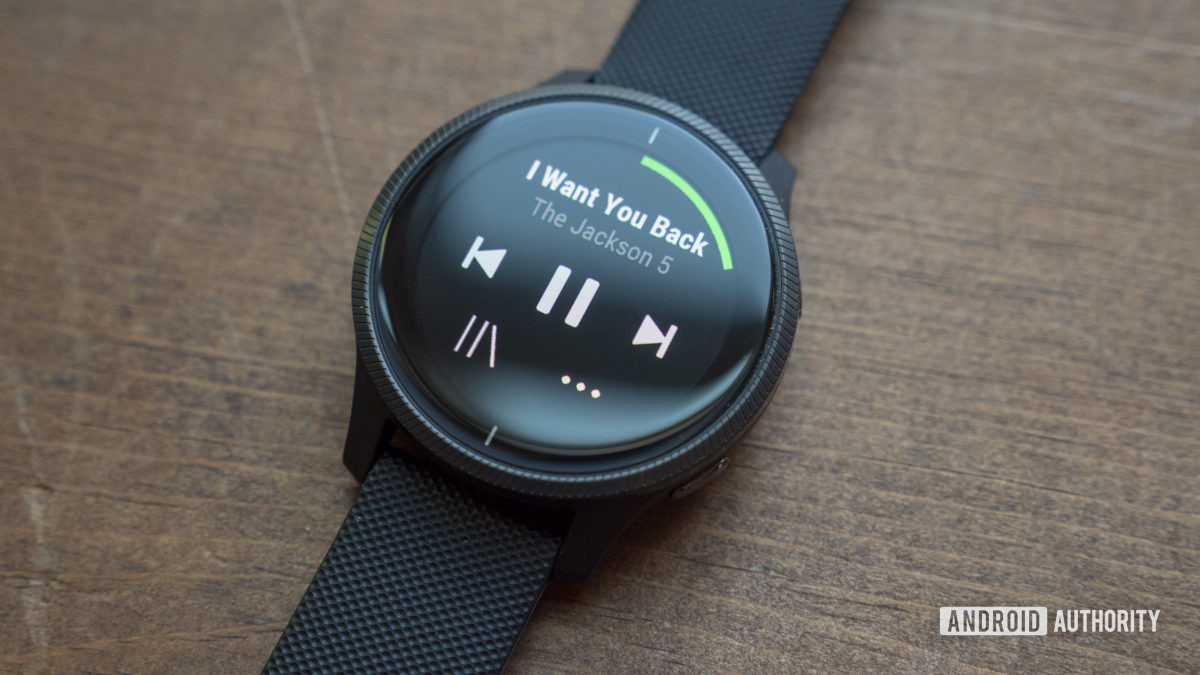 garmin venu review spotify app music