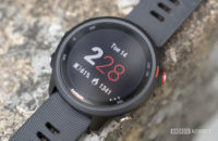 garmin forerunner 245 music running watch watch face close up