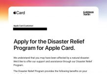 Apple Offers Disaster Relief Program for Apple Card Holders