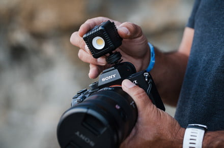 The golf ball-sized Lume Cube 2.0 sheds light on your mobile photos