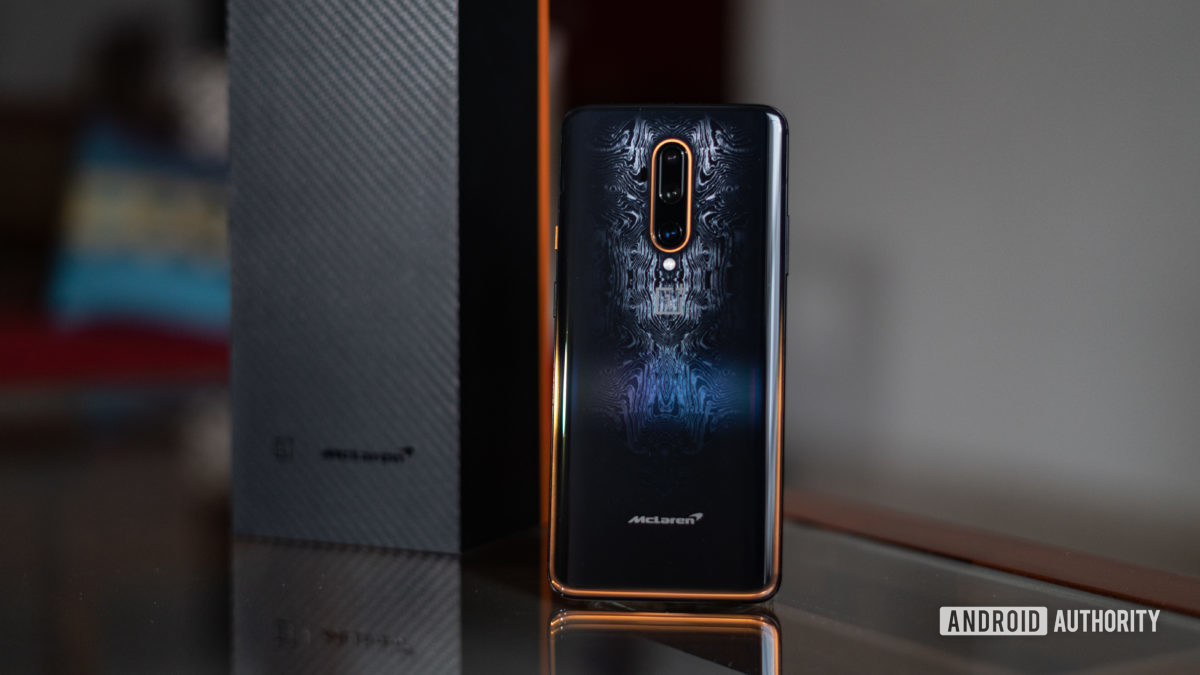 OnePlus 7T Pro McLaren Edition full image of pattern design