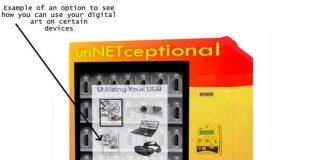 This vending machine sells pixels, not Pepsis, to help digital artists