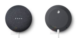 Google Nest Mini pictures reveal a built-in wall mount and familiar design