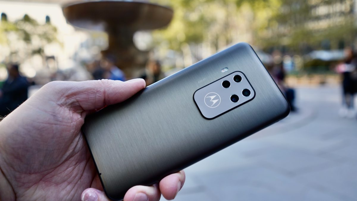 Motorola One Zoom review rear angle