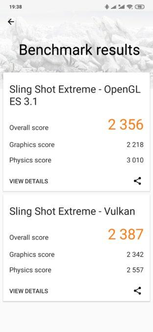 Redmi Note 8 Pro 3DMark results
