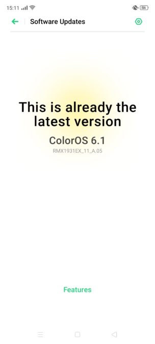 Realme X2 Pro software Color OS version