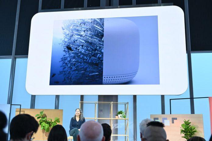 Google's Nest Mini turns recycled plastic bottles into a smart speaker
