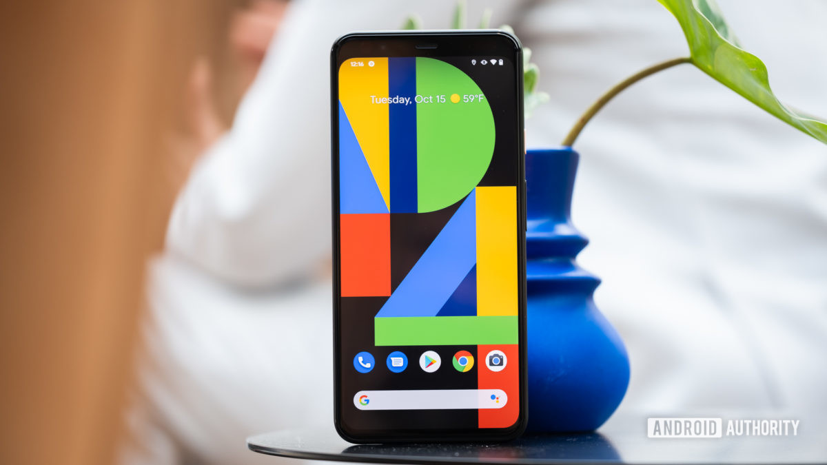 Pixel 4 XL screen on table 4