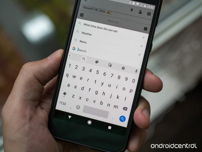 Gboard will take a page from Gmail, and complete your sentences for you