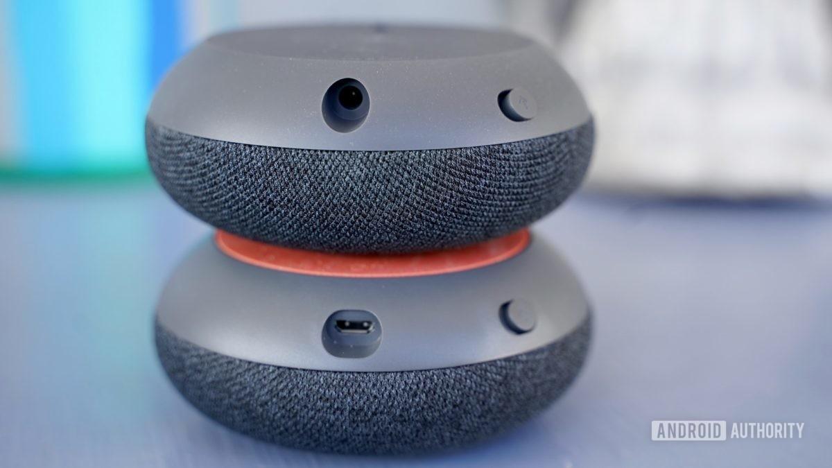 Google Nest Mini with Home Mini ports