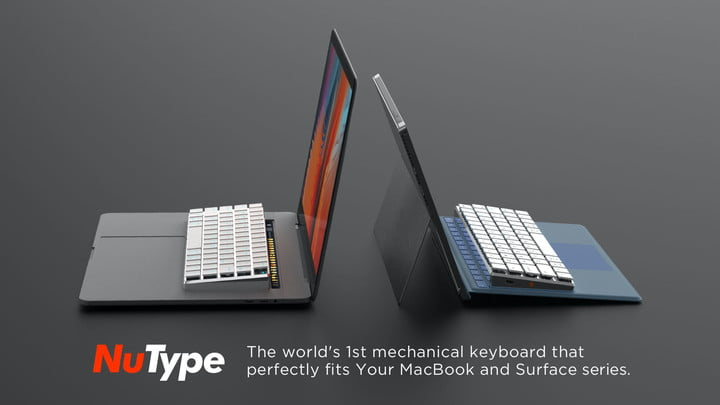 This mechanical keyboard attaches directly to your MacBook or Surface