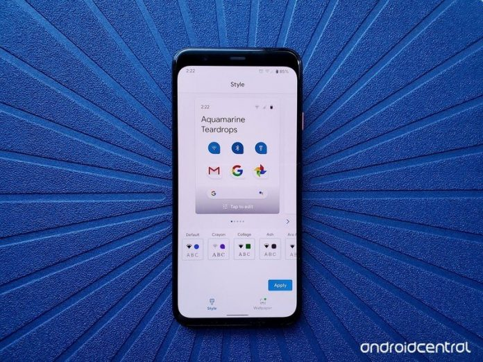 Customize your Pixel 4's look with the Style theming menu
