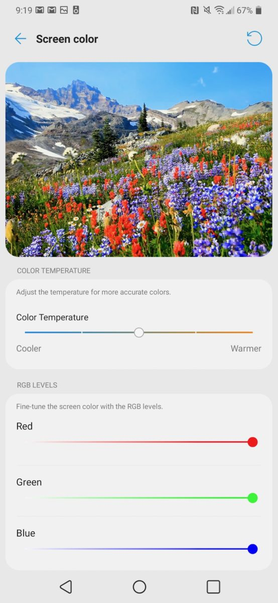 LG G8X ThinQ Review manual color control