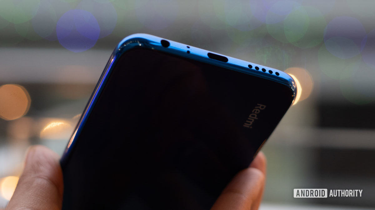 Redmi Note 8 with USB C port visible
