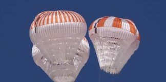 SpaceX video shows off successful test of new Crew Dragon parachutes
