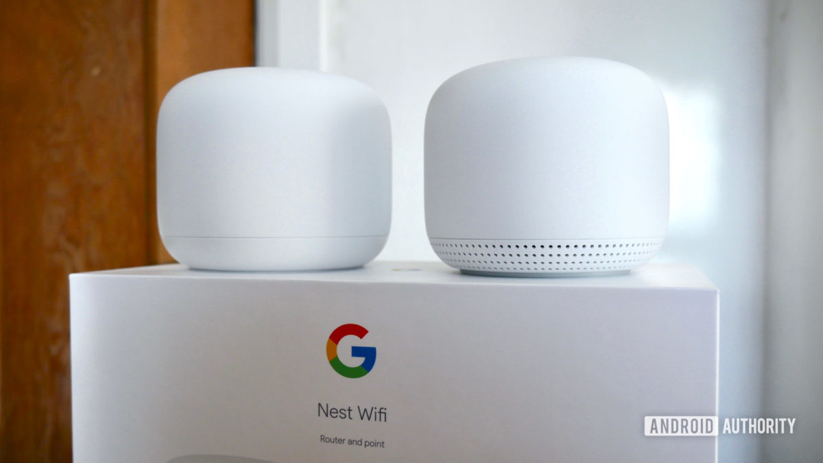 google nest wifi review on top of box