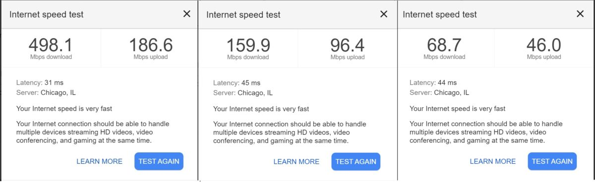 nest wifi speeds