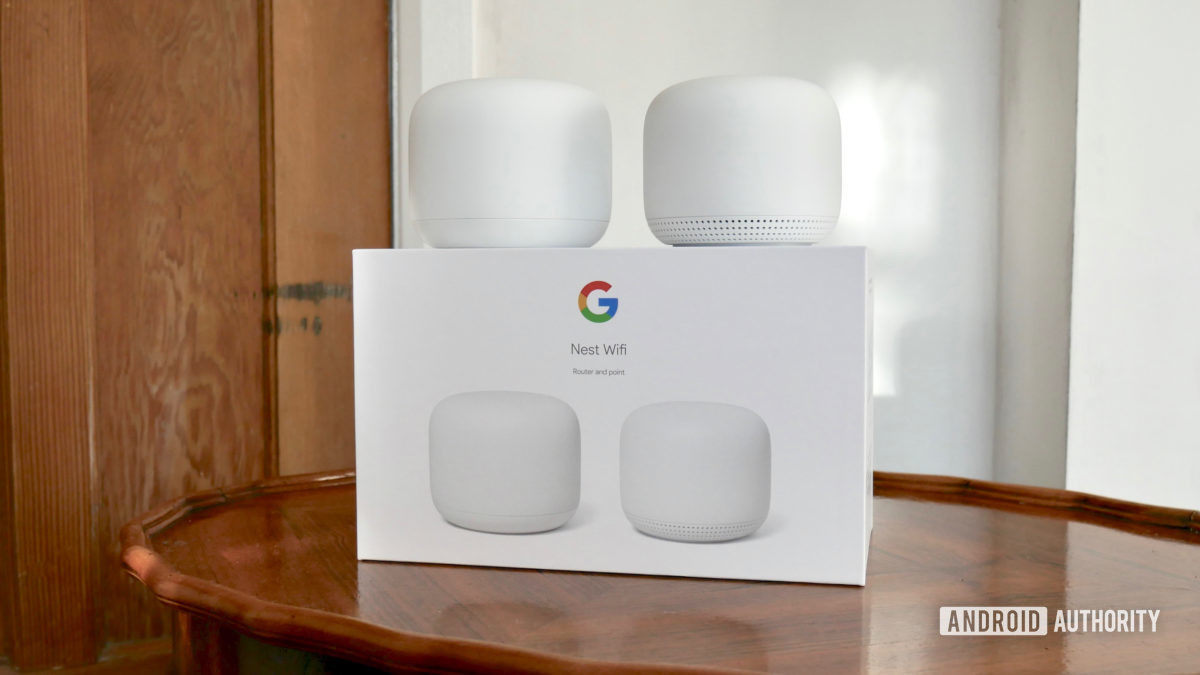 google nest wifi review front box