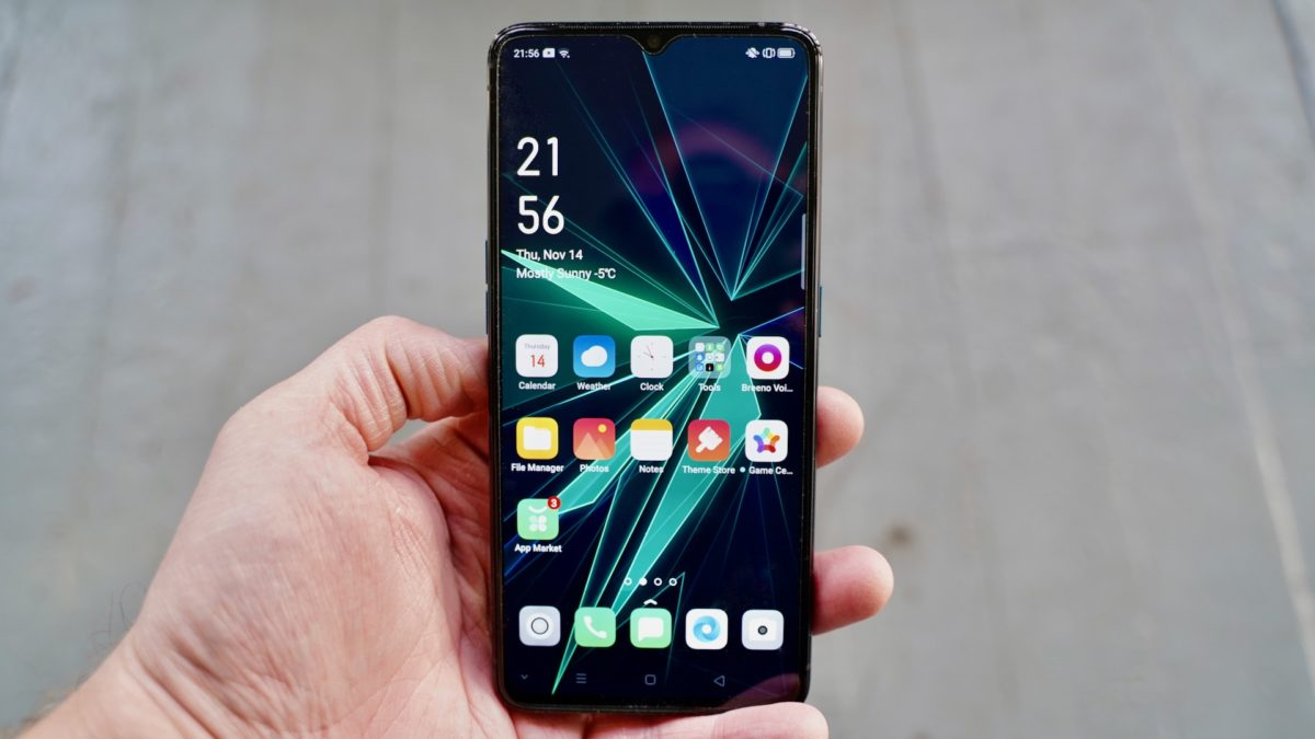 Oppo Reno Ace review in the hand front