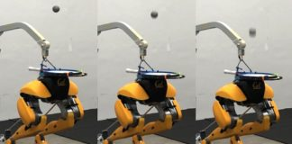 Watch this disembodied set of robotic ostrich legs juggle a ball on its 'head'