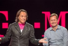 How will John Legere's departure as T-Mobile CEO affect the Sprint merger?