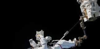 ISS astronauts are fixing a particle physics detector in space