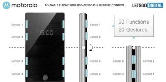 New patent hints at Motorola Razr with eight sensors on the edges