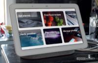 Google Home Hub showing feature menu