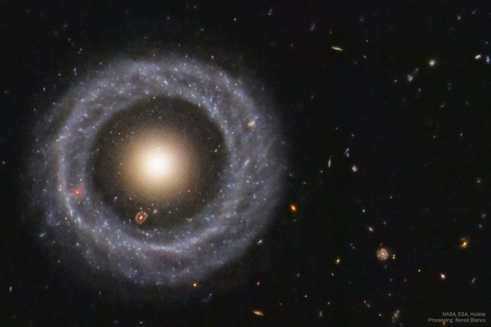 How did this beautiful ring galaxy form? Astronomers remain puzzled