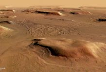 Mars's strange equatorial terrain could have formed under an ice sheet